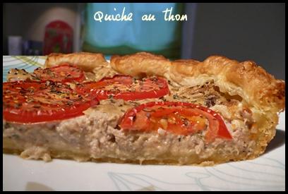 quicheauthoncrea3 Quiche au thon
