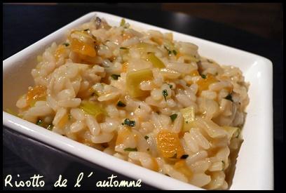 risottodelautomnecrea Risotto de lautomne : courge musquée, poireau et champignons