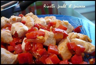 risottopouletpoivroncrea1 Risotto poulet et poivron