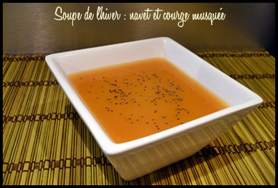 soupedelhivernavetscourgemusqueecrea Soupe de lhiver : navet et courge musquée