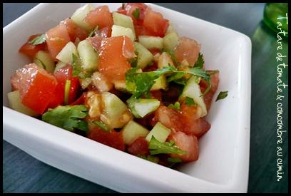 tartaretomatesconcombreaucumincrea Tartare de tomate et concombre au cumin