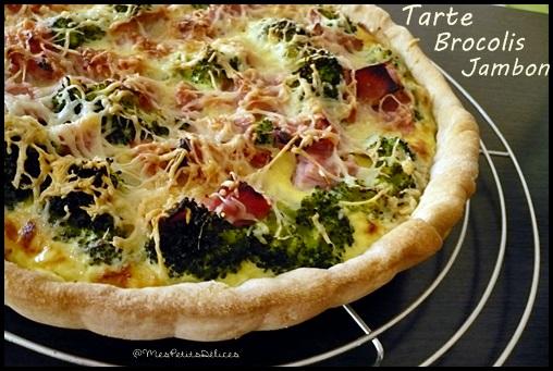 tartebrocolisjamboncrea2 Tarte brocolis jambon