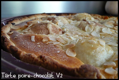 tartepoirechocolatV2crea2 Tarte poire chocolat V2