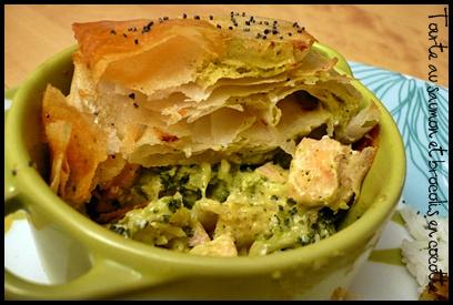 tourtesaumonbrocoliscocottecrea2 Tourte au saumon et brocolis en cocotte