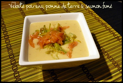 veloutepoireaupdtsaumonfumecrea3 Velouté de poireau, pomme de terre et saumon fumé