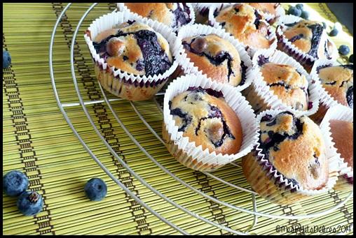 muffins myrtilles C3 Muffins aux myrtilles