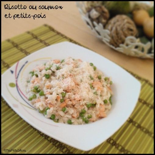 risotto saumon petits pois C1 Risotto au saumon et petits pois