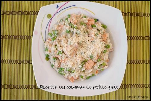 risotto saumon petits pois C3 Risotto au saumon et petits pois