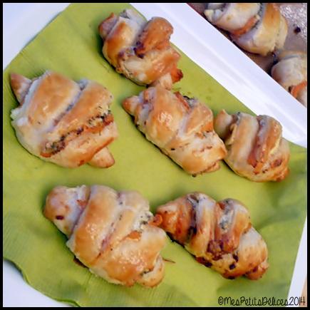 croissants saumon fumé C3 ★ Recette de fête ★ : Minis croissants au saumon fumé