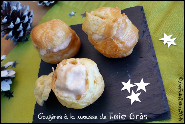 gougères mousse foie gras C ★Recette de fête ★: Gougères à la mousse de foie gras
