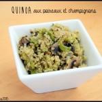 Quinoa poireau champignons C
