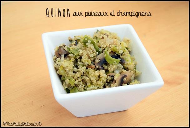 Quinoa poireau champignons C Quinoa aux poireaux et champignons