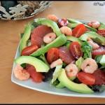 salade avocat pamplemousse crevettes 2 C