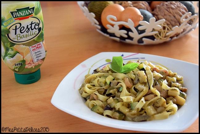 pâtes légumes pesto panzani C Tagliatelles aux légumes et au pesto Panzani