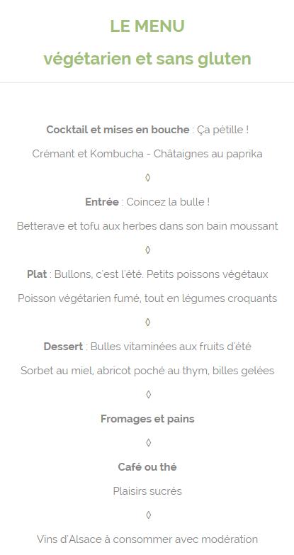 menu la bulle La Bulle : Restaurant Bio éphémère à Strasbourg