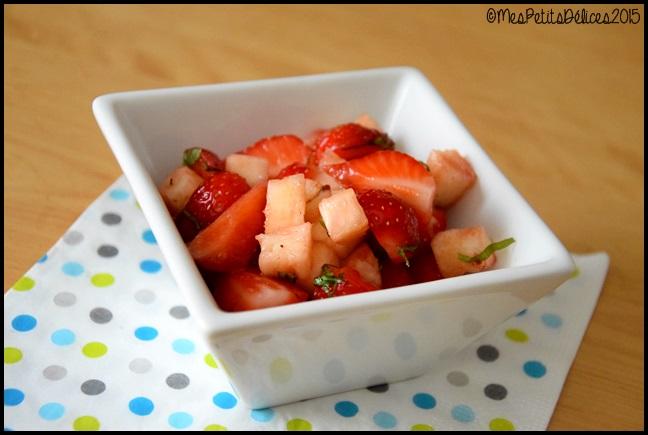 salade fraise ananas basilic 2C Salade de fraises et ananas au basilic