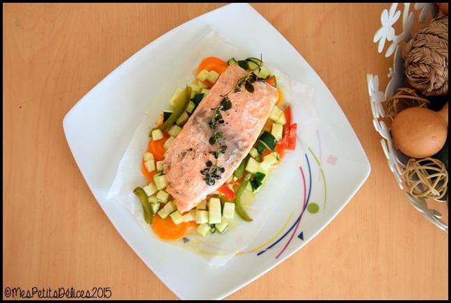 papillotes de saumon aux légumes C Papillotes de saumon aux légumes