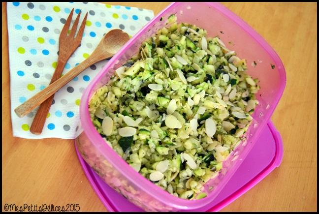 salade courgettes amandes 1C ☀ Recette fraîcheur ☀ : Salade de courgettes aux amandes