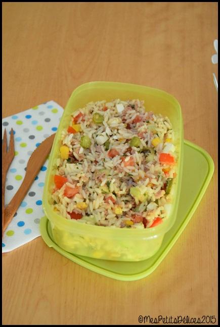 salade de riz C ☀ Repas fraîcheur ☀ : Salade de riz