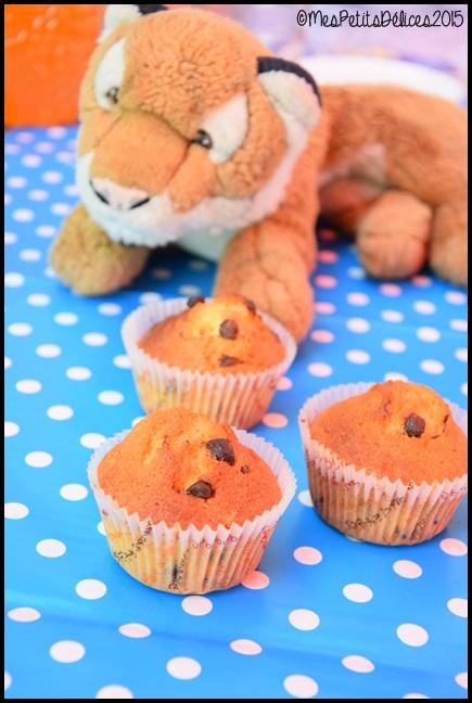 muffins pépites chocolat 1C Muffins aux pépites de chocolat