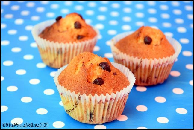 muffins pépites chocolat 2C Muffins aux pépites de chocolat