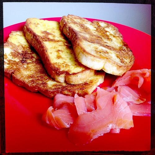 Pain perdu saumon fumé Notre pain au quotidien : idée de recette par la Boulangerie Ange