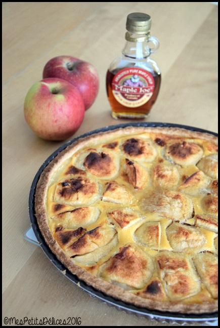 tarte pommes sirop erable 1C Tarte aux pommes et au sirop dérable