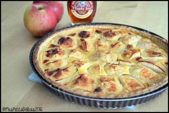 tarte pommes sirop erable 2C Tarte aux pommes et au sirop dérable