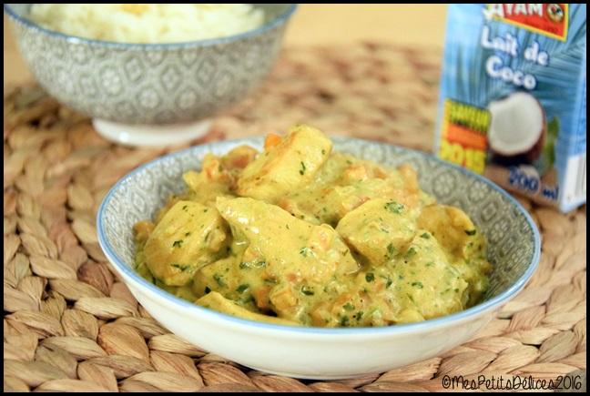 poulet curry coco 1C Poulet au curry et lait de coco