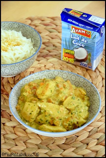 poulet curry coco 2C Poulet au curry et lait de coco