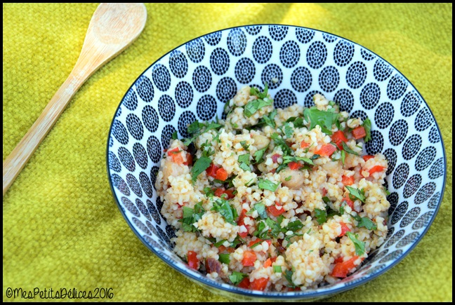 salade de boulghour a lorientale 2C Salade de boulghour à lorientale