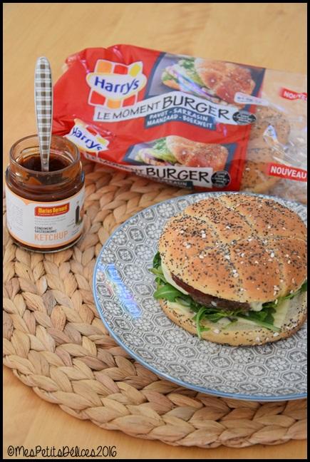 burger roquette 1C Burgers à la roquette et mozzarella
