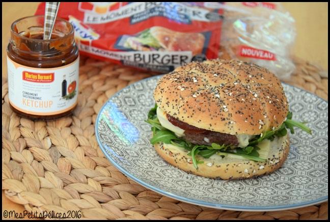 burger roquette 2C Burgers à la roquette et mozzarella