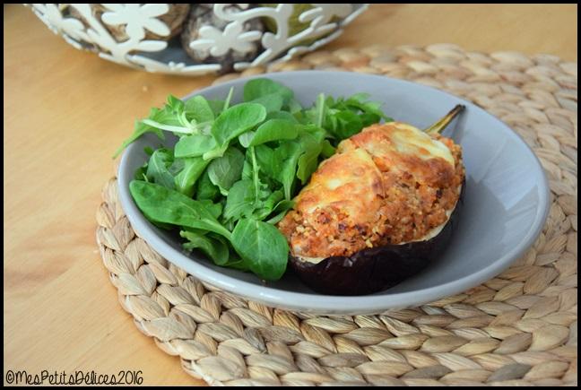 aubergines farcies aux cereales 2C Aubergines farcies aux céréales