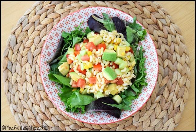 salade coquillettes 1C ☀ Repas fraîcheur #6 ☀ : Salade gourmande aux coquillettes