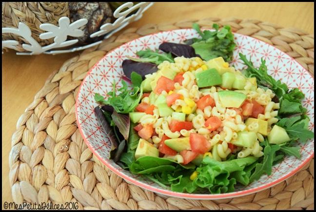 salade coquillettes 2C ☀ Repas fraîcheur #6 ☀ : Salade gourmande aux coquillettes