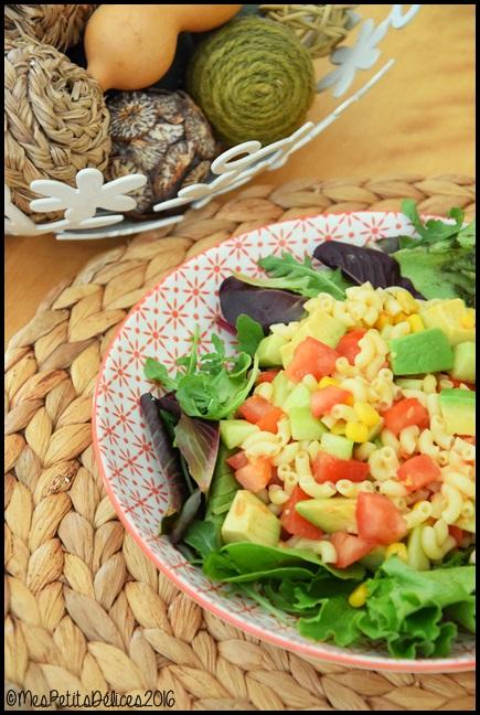 salade coquillettes 3C ☀ Repas fraîcheur #6 ☀ : Salade gourmande aux coquillettes