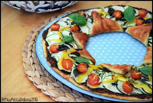 tarte etoile legumes d ete 4C Tarte étoile aux légumes dété