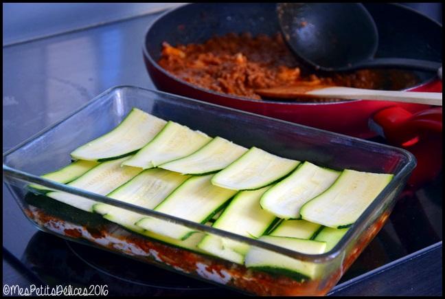lasagnes courgettes provençale 1C Lasagnes de courgettes à la provençale