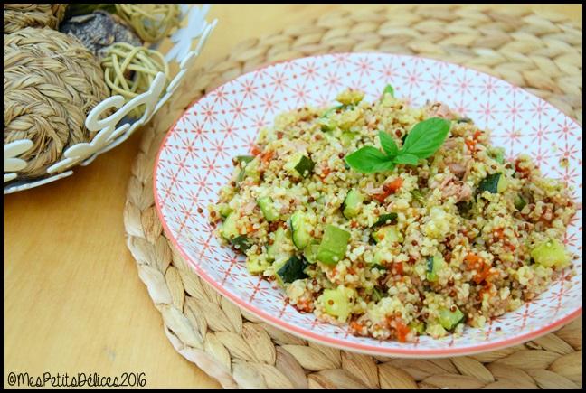 salade quinoa legumes grilles thon 1C Salade tiède au quinoa, légumes grillés et au thon