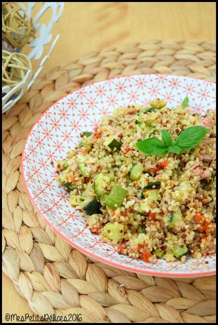 salade quinoa legumes grilles thon 2C Salade tiède au quinoa, légumes grillés et au thon