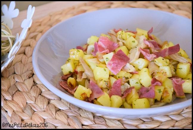 PDT coppa pleurotes 3C Pommes de terre sautées, coppa et pleurotes