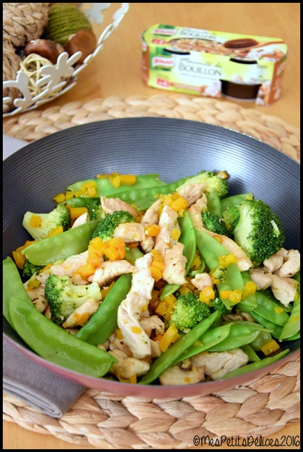 wok de dinde aux légumes 1C Wok de dinde aux légumes