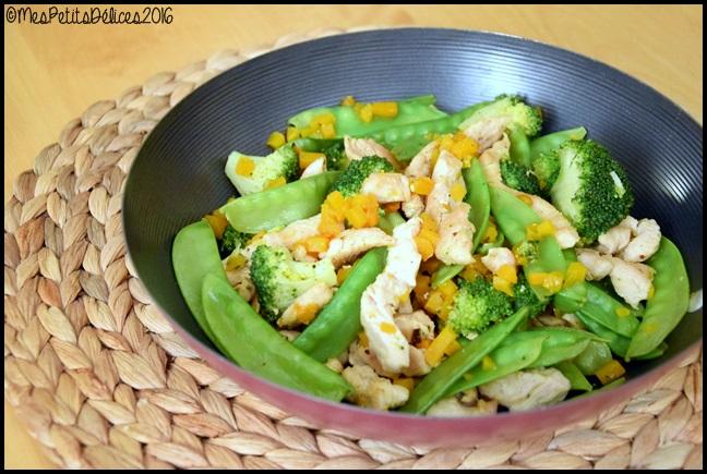 wok de dinde aux légumes 3C Wok de dinde aux légumes