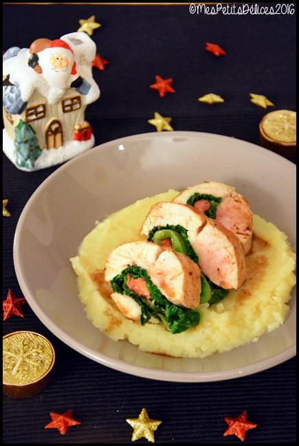 ballotines poulet foie gras 1C ★ Recette de fête ★ Ballottines de poulet au foie gras et purée de céleri