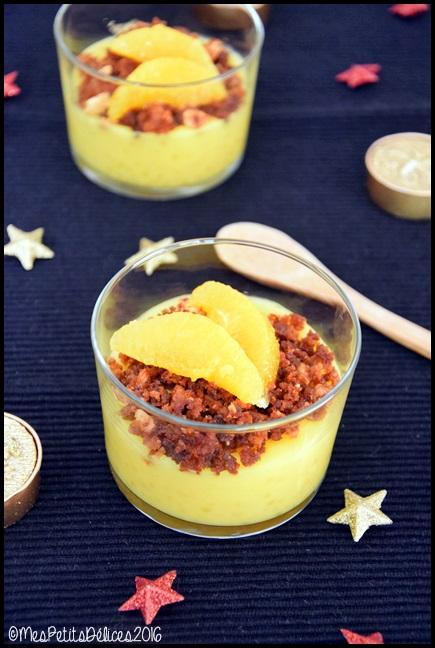 dessert orange pain dépice 2C ★ Recette de fête ★ Douceur perlée à lorange et crumble de pain dépices