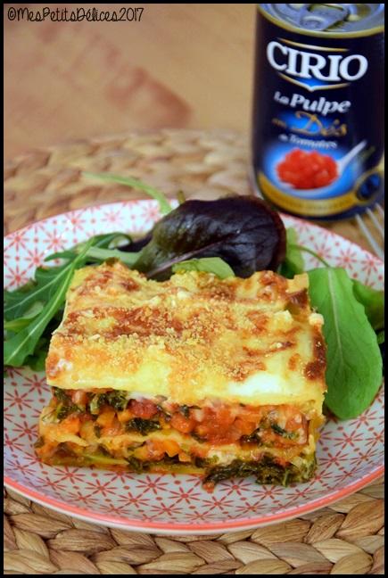 lasagnes legumes d hiver 1C Lasagnes aux légumes dhiver