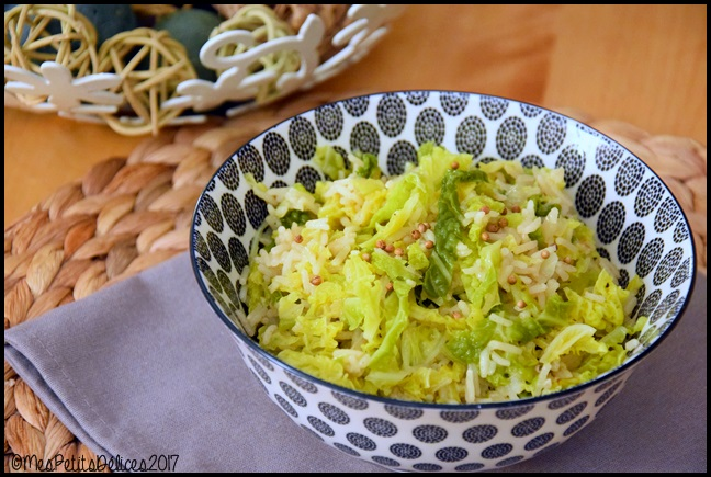 riz chou coriandre 2C Riz au chou vert épicé