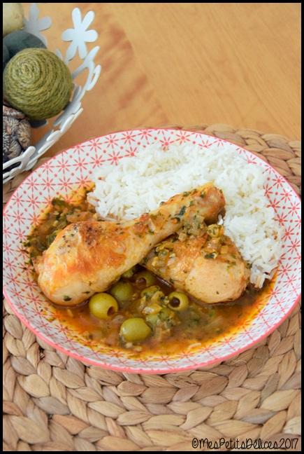 poulet olives coriandre 1C Poulet aux olives et à la coriandre