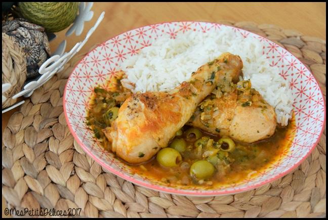 poulet olives coriandre 2C Poulet aux olives et à la coriandre